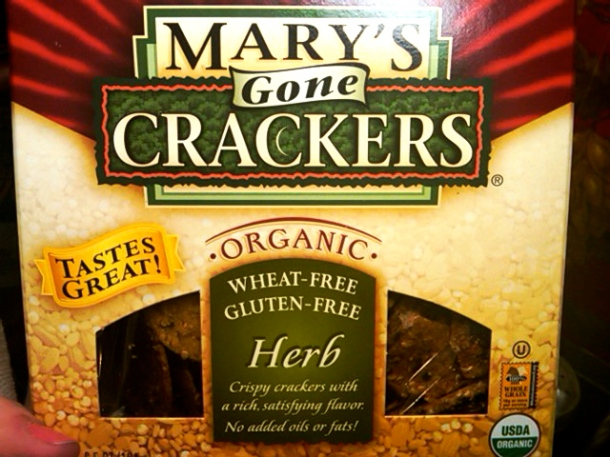 Mary's Crackers! (Gluten free, Wheat free)